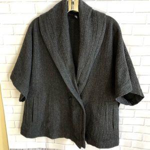 Eileen fisher Marino wool blend swing coat